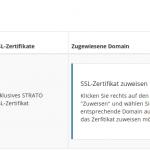 SSL-Bestellung bei Strato