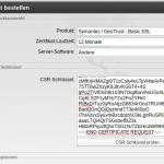 Zertifikat mit CSR bei SchlundTech bestellen